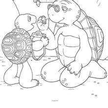 Franklin 7 - Dibujos para Colorear y Pintar - Dibujos para colorear PERSONAJES - PERSONAJES ANIME para colorear - Franklin la tortuga para pintar