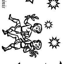 Geminis - Dibujos para Colorear y Pintar - Dibujos infantiles para colorear - Signos del Zodiaco para colorear