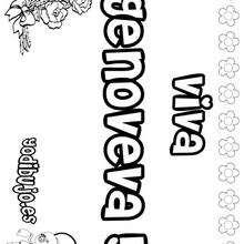 GENOVEVA colorear nombres niñas - Dibujos para Colorear y Pintar - Dibujos para colorear NOMBRES - Dibujos para colorear NOMBRES NIÑAS
