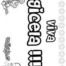 GICELA colorear nombres niñas - Dibujos para Colorear y Pintar - Dibujos para colorear NOMBRES - Dibujos para colorear NOMBRES NIÑAS
