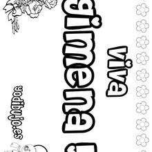 GIMENA colorear nombres niñas - Dibujos para Colorear y Pintar - Dibujos para colorear NOMBRES - Dibujos para colorear NOMBRES NIÑAS