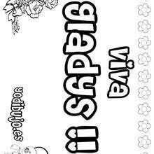 GLADYS colorear nombres niñas - Dibujos para Colorear y Pintar - Dibujos para colorear NOMBRES - Dibujos para colorear NOMBRES NIÑAS