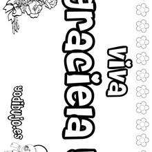 GRACIELA colorear nombres niñas - Dibujos para Colorear y Pintar - Dibujos para colorear NOMBRES - Dibujos para colorear NOMBRES NIÑAS