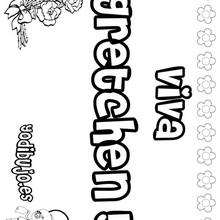 GRETCHEN colorear nombres niñas - Dibujos para Colorear y Pintar - Dibujos para colorear NOMBRES - Dibujos para colorear NOMBRES NIÑAS