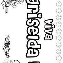 GRISELDA colorear nombres niñas - Dibujos para Colorear y Pintar - Dibujos para colorear NOMBRES - Dibujos para colorear NOMBRES NIÑAS