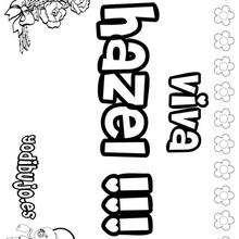 HAZEL colorear nombres niñas - Dibujos para Colorear y Pintar - Dibujos para colorear NOMBRES - Dibujos para colorear NOMBRES NIÑAS