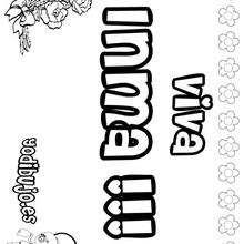 INMA colorear nombres niñas - Dibujos para Colorear y Pintar - Dibujos para colorear NOMBRES - Dibujos para colorear NOMBRES NIÑAS
