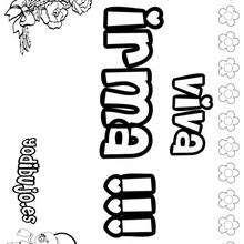 IRMA colorear nombres niñas - Dibujos para Colorear y Pintar - Dibujos para colorear NOMBRES - Dibujos para colorear NOMBRES NIÑAS
