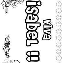 Nombre de niña para pintar : ISABEL