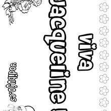 Nombre de niña para pintar : JACQUELINE