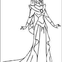 Dibujo para colorear : Vestido real de Jasmin