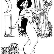 Dibujo para imprimir y pintar JASMIN DISNEY - Dibujos para Colorear y Pintar - Dibujos DISNEY para colorear - Dibujos para colorear PRINCESAS DISNEY - Dibujos PRINCESA JASMIN para colorear