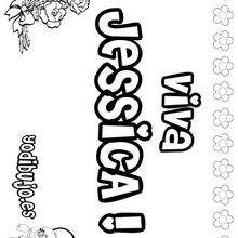 JESSICA colorear nombres niñas - Dibujos para Colorear y Pintar - Dibujos para colorear NOMBRES - Dibujos para colorear NOMBRES NIÑAS