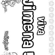JIMENA colorear nombres niñas - Dibujos para Colorear y Pintar - Dibujos para colorear NOMBRES - Dibujos para colorear NOMBRES NIÑAS