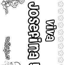 JOSEFINA colorear nombres niñas - Dibujos para Colorear y Pintar - Dibujos para colorear NOMBRES - Dibujos para colorear NOMBRES NIÑAS