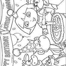 ¡Feliz cumpleaños! - Dibujos para Colorear y Pintar - Dibujos para colorear PERSONAJES - PERSONAJES TV para colorear - Dora y sus amigos para colorear