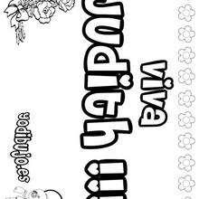 JUDITH colorear nombres niñas - Dibujos para Colorear y Pintar - Dibujos para colorear NOMBRES - Dibujos para colorear NOMBRES NIÑAS