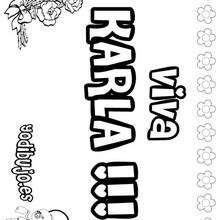 Nombre de niña para pintar : KARLA