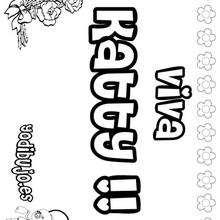 KATTY colorear nombres niñas - Dibujos para Colorear y Pintar - Dibujos para colorear NOMBRES - Dibujos para colorear NOMBRES NIÑAS