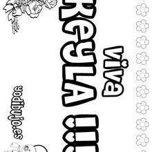 KEYLA colorear nombres niñas - Dibujos para Colorear y Pintar - Dibujos para colorear NOMBRES - Dibujos para colorear NOMBRES NIÑAS