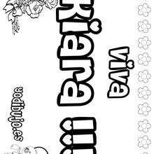 KIARA colorear nombres niñas - Dibujos para Colorear y Pintar - Dibujos para colorear NOMBRES - Dibujos para colorear NOMBRES NIÑAS