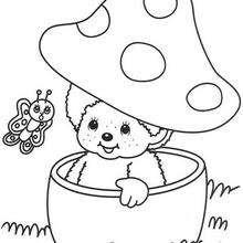 Kiki 2 - Dibujos para Colorear y Pintar - Dibujos para colorear PERSONAJES - PERSONAJES ANIME para colorear - Kiki el mono para pintar