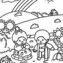Kiki 3 - Dibujos para Colorear y Pintar - Dibujos para colorear PERSONAJES - PERSONAJES ANIME para colorear - Kiki el mono para pintar