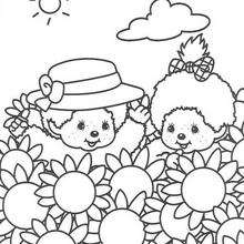 Kiki 4 - Dibujos para Colorear y Pintar - Dibujos para colorear PERSONAJES - PERSONAJES ANIME para colorear - Kiki el mono para pintar