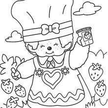 Kiki 5 - Dibujos para Colorear y Pintar - Dibujos para colorear PERSONAJES - PERSONAJES ANIME para colorear - Kiki el mono para pintar