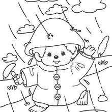 Kiki 6 - Dibujos para Colorear y Pintar - Dibujos para colorear PERSONAJES - PERSONAJES ANIME para colorear - Kiki el mono para pintar