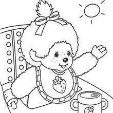 Kiki 7 - Dibujos para Colorear y Pintar - Dibujos para colorear PERSONAJES - PERSONAJES ANIME para colorear - Kiki el mono para pintar