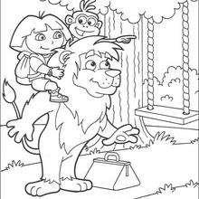 El columpio - Dibujos para Colorear y Pintar - Dibujos para colorear PERSONAJES - PERSONAJES TV para colorear - Dora y sus amigos para colorear