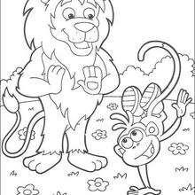La voltereta - Dibujos para Colorear y Pintar - Dibujos para colorear PERSONAJES - PERSONAJES TV para colorear - Dora y sus amigos para colorear