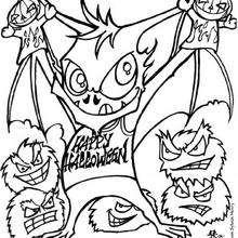 El murciélago - Dibujos para Colorear y Pintar - Dibujos para colorear FIESTAS - Dibujos para colorear HALLOWEEN - Dibujos para colorear MURCIELAGOS HALLOWEEN