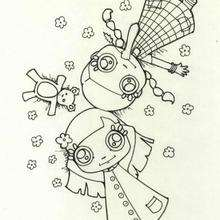 La hierba - Dibujos para Colorear y Pintar - Dibujos infantiles para colorear - Colorear las 4 temporadas - Dibujos de la primavera para pintar