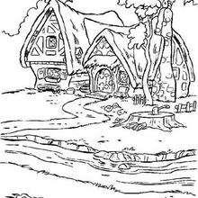 La casa de los enanos 2 - Dibujos para Colorear y Pintar - Dibujos DISNEY para colorear - Dibujos para colorear PRINCESAS DISNEY - Dibujos para colorear BLANCANIEVES