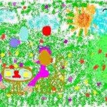 Ilustración : Comida en el jardín
