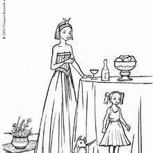 Dibujo de 2 princesas con hermosos vestidos para colorear - Dibujos para Colorear y Pintar - Dibujos de PRINCESAS para colorear - Dibujos para pintar PRINCESAS