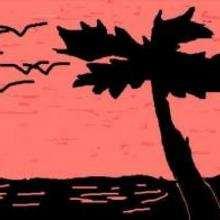 Playa de noche - Dibujar Dibujos - Dibujos para COPIAR - Otros