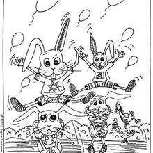 Conejitos - Dibujos para Colorear y Pintar - Dibujos para colorear ANIMALES - Dibujos ANIMALES DE GRANJA para colorear - Colorear CONEJOS - Dibujos para colorear e imprimir CONEJOS GRATIS