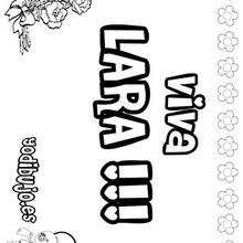 LARA colorear nombres niñas - Dibujos para Colorear y Pintar - Dibujos para colorear NOMBRES - Dibujos para colorear NOMBRES NIÑAS