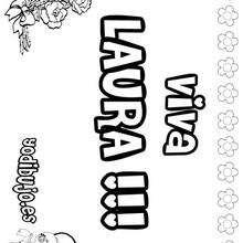 LAURA colorear nombres niñas - Dibujos para Colorear y Pintar - Dibujos para colorear NOMBRES - Dibujos para colorear NOMBRES NIÑAS