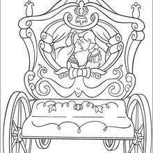 El beso del príncipe - Dibujos para Colorear y Pintar - Dibujos DISNEY para colorear - Dibujos para colorear PRINCESAS DISNEY - Dibujos para colorear la CENICIENTA