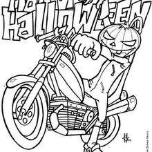 Dibujo para colorear : feliz Halloween calabaza