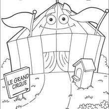 Dibujo para colorear : La lona del circo