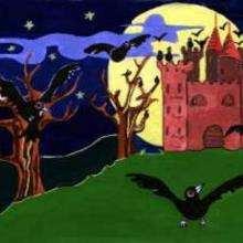 El castillo encantado - Dibujar Dibujos - Dibujos para RECORTAR - HALLOWEEN  dibujos para recortar