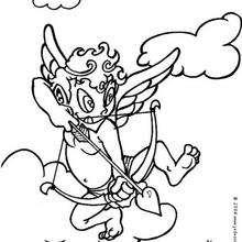 Dibujo para colorear : El flechazo de Cúpido