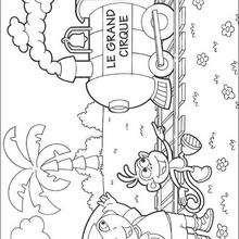 el circo - Dibujos para Colorear y Pintar - Dibujos para colorear PERSONAJES - PERSONAJES TV para colorear - Dora y sus amigos para colorear