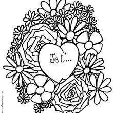 El corazón - Dibujos para Colorear y Pintar - Dibujos para colorear FIESTAS - Dibujos para colorear SAN VALENTIN - Colorear CORAZON