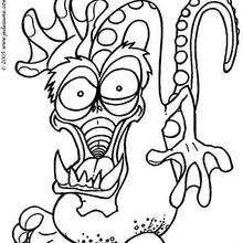 El dragón - Dibujos para Colorear y Pintar - Dibujos infantiles para colorear - Monstruos para pintar